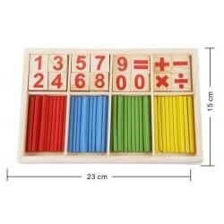 Barras con números (madera)